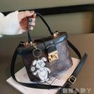 小眾設計包包女2020新款潮百搭單肩斜挎包時尚網紅爆款手提水桶包 蘿莉新品