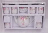新娘花茶具組6入 結婚用品 吃新娘茶 訂婚奉茶【皇家結婚百貨】