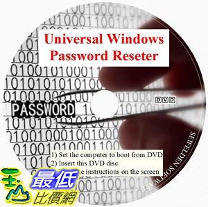 [7美國直購] 2018 amazon 亞馬遜暢銷軟體 Universal Windows Password Reset DVD Disc Compatible for Windows