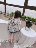 小孩夏季空調衫上衣夏裝兒童外套寶寶可愛連帽防曬衣服