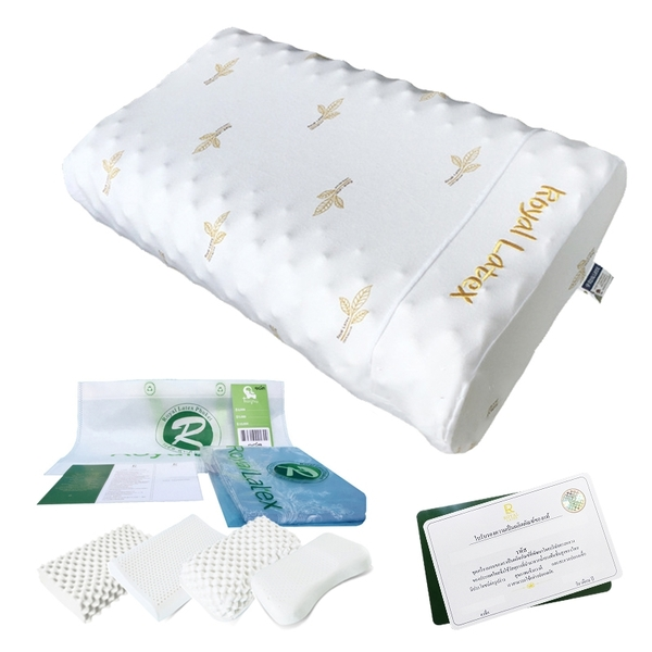 現貨!SGS認證 Royal Latex泰國乳膠枕 附枕套 天然乳膠枕頭 彈力枕 枕芯 兒童枕 護頸枕 #捕夢網