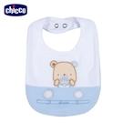 chicco-駕駛小熊-剪接刺繡圍兜