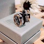 米蘭 2019新款鈦鋼指環網紅C三色K字母時尚個性韓版輕奢小眾設計女戒指