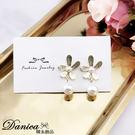 現貨不用等 韓國女神氣質浪漫百搭花朵珍珠925銀針垂墜耳環 S93503 批發價 Danica 韓系飾品