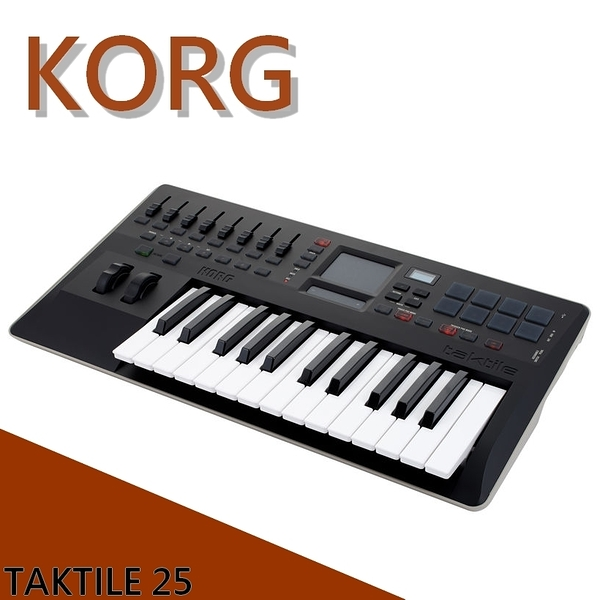 【非凡樂器】KORG taktile 25鍵主控鍵盤 / USB MIDI Control Keyboard 公司貨保固