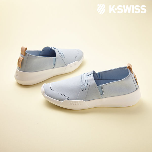 K-SWISS Gen-K Brogue休閒運動鞋-女-淺藍/白