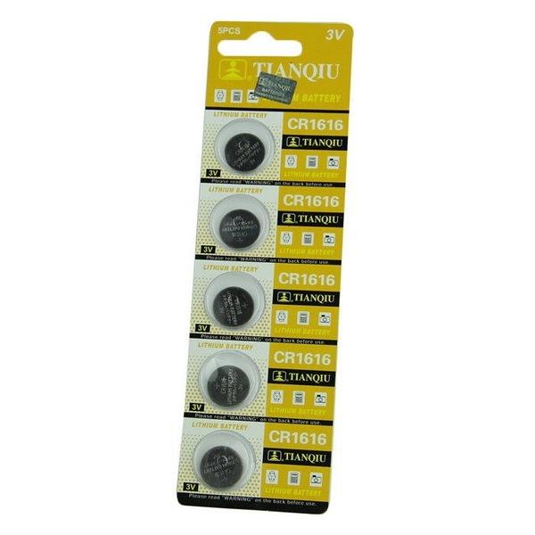 【GU206】環保型鈕扣電池/水銀電池 CR1616 吊卡裝(1卡5入)★EZGO商城★