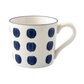 藍黛陶瓷馬克杯320ml 圓點