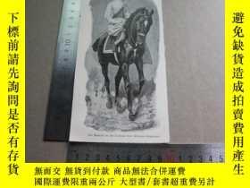 二手書博民逛書店【百罕見】1895年平版畫《die kaiserin in der uniform des kürassier r