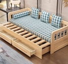 沙髮床 實木沙髮床可折疊小戶型沙髮多功能1.5米推拉坐臥兩用客廳雙人1.8 mks韓菲兒