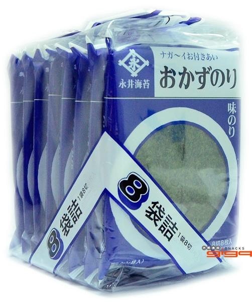 【吉嘉食品】永井 海苔片 1包17.4公克(8入),日本進口{4904071231096}[#1]