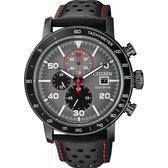 CITIZEN 星辰 光動能賽車計時碼錶-灰x黑/43mm CA0645-15H