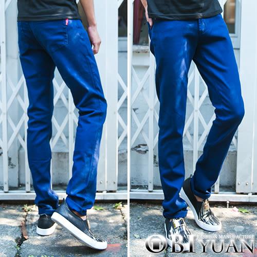 出清不退換【P1520】OBI YUAN 專櫃高磅數丹寧布素面彈性牛仔褲 出清不退換
