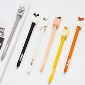 【BlueCat】矽膠森林方塊動物水性筆 中性筆