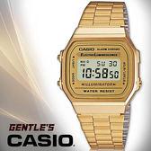 CASIO手錶專賣店 卡西歐  A168WG-9W 男錶 金色 數字型 EL冷光照明 生活防水 不繡鋼錶帶