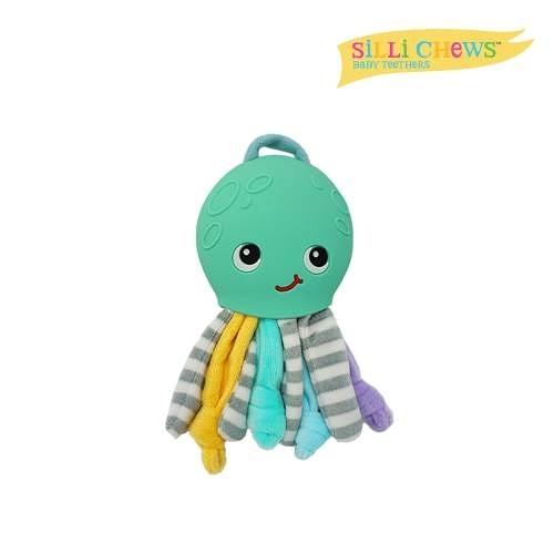 美國 Silli Chews 章魚咬牙毛絨玩具(藍) SC-36[衛立兒生活館]