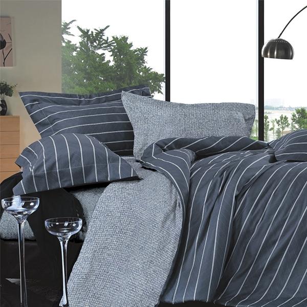 【金‧安德森】精梳棉《艾斯》兩用被床包四件組 (標準雙人)