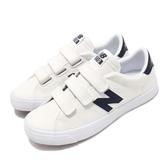 New Balance 休閒鞋 NB 210 N字鞋 白 深藍 小白鞋 魔鬼氈 復古帆布鞋 運動鞋 男鞋 女鞋【PUMP306】 AM210VWBD