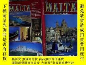 二手書博民逛書店MALTA罕見AND ITS ISLANDS 馬耳他及其島嶼Y2