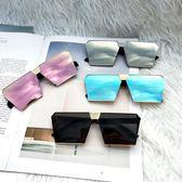 太陽鏡時尚潮流大框方形墨鏡女潮男士開車眼鏡睛 極客玩家