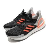 【海外限定】adidas 慢跑鞋 UltraBOOST 19 M 黑 灰 橘 愛迪達 BOOST 男鞋 【ACS】 G27516