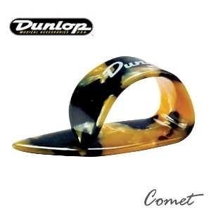 【pick彈片】Dunlop Heavies Thumbpicks 琥珀黑黃拇指套 PICK 彈片(一組三個)【9215】