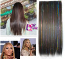 來福,W50髮片七彩亮絲髮片自然無痕一片式長直髮接髮片,售價268元