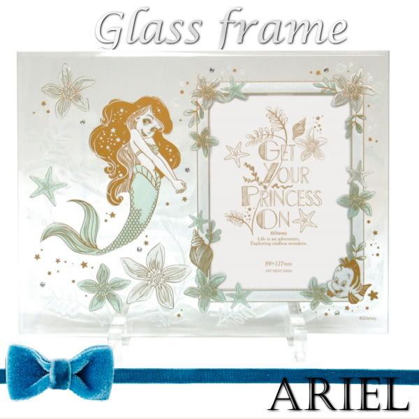 日本製迪士尼公主美人魚美女與野獸長髮公主愛麗絲水晶玻璃相框749664通販屋
