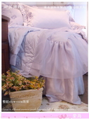 法式典藏.浪漫婚紗系列『紫筠』淡紫色*╮☆(絕對首選) 六件式專櫃高級床罩組6*7尺