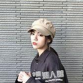 簡約純色棉麻薄款八角帽男女夏季文藝鴨舌貝雷帽報童帽   9號潮人館