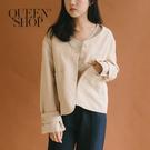 Queen Shop【02071155】雙口袋短版外套 兩色售*現+預*