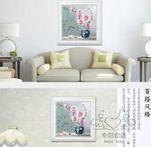 十字繡 鐘錶掛鐘時鐘新品客廳臥室植物花卉歐式簡單小幅新手【1件免運】