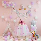 寶寶周歲生日背景墻布置兒童餐椅主題派對裝飾氣球套餐【步行者戶外生活館】