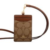【COACH】PVC LOGO掛式証件套/卡夾(木頭色)F63274 IME74