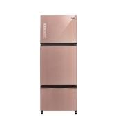 聲寶460公升玻璃三門變頻冰箱琉璃粉SR-A46GDV(P1)