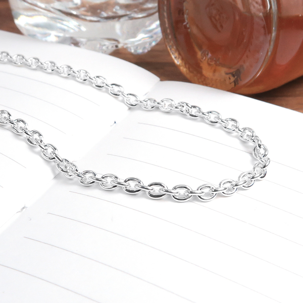 經典圓圈鍊(3.0mm寬)24吋 925純銀項鍊