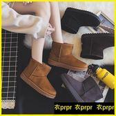 雪靴-保暖棉鞋短筒雪地靴女百搭短靴子韓版平底中筒加絨棉鞋 衣普菈