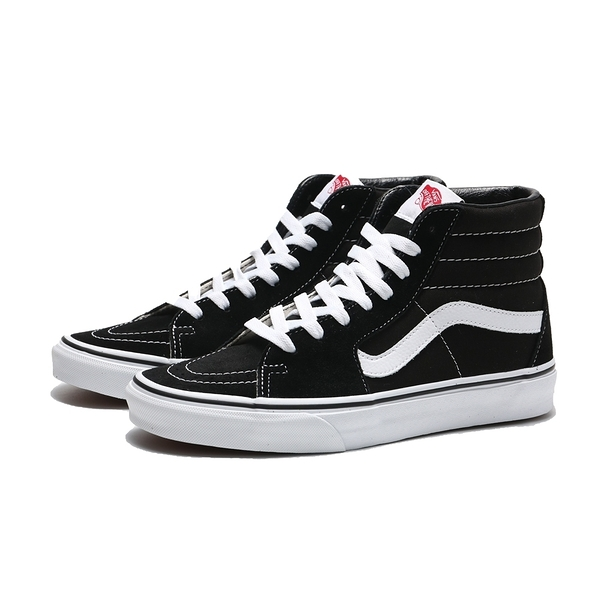 VANS 休閒鞋 SK8-HI 黑白 高筒 帆布 經典款 板鞋 男女(布魯克林) VN000D5IB8C