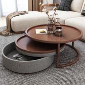 現代簡約創意時尚個性圓形茶幾北歐小戶型異形伸縮茶桌igo 寶貝計畫