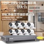 屏東監視器/200萬1080P-TVI/套裝組合【8路監視器+200萬管型攝影機*8支】DIY組合優惠價