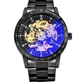手錶男士機械錶男錶全自動鏤空潮流學生防水夜光精鋼運動錶
