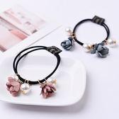 【NiNi Me】 韓系髮飾 甜美串珠花朵珍珠髮束 髮束H9115