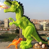 遙控玩具-大號電動機器會走的恐龍下蛋走路遙控霸王龍仿真動物兒童玩具男孩 夏沫之戀