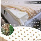 100%純天乳膠床墊10cm【6x6.2尺】雙人加大/頂級馬來西亞原裝/天然乳膠床墊/厚度↨10cm