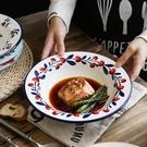 意大利面深款草帽盤 北歐ins歐式網紅創意陶瓷餐具深菜碗盤子家用 8號店
