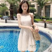 夏裝新款流蘇仙女連衣裙修身度假沙灘裙性感吊帶裙子禮服短裙