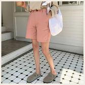 ✦Styleon✦正韓。休閒高腰簡約棉質四分短褲。韓國連線。韓國空運。0710。