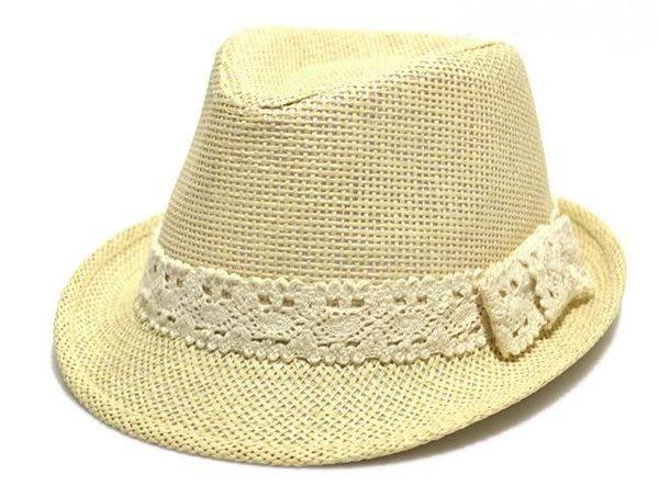 *甜蜜蜜親子童裝*甜美《蕾絲蝴蝶結》兒童爵士帽 禮帽 草帽