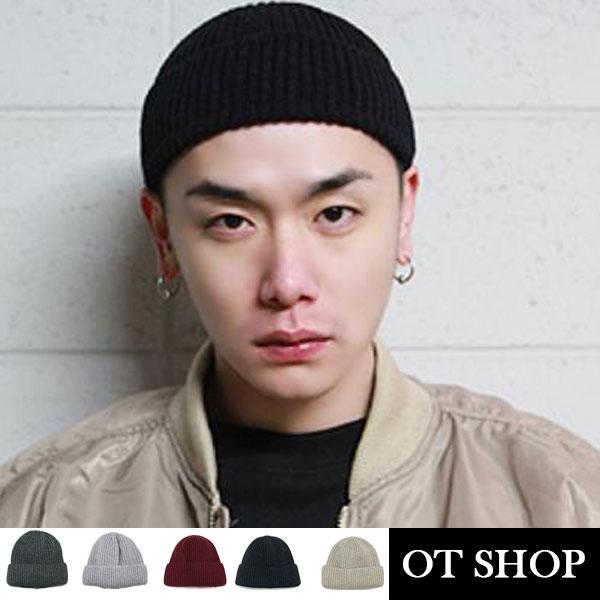 OT SHOP帽子‧保暖素色短帽‧毛帽毛線帽毛呢帽‧韓版歐美日系街頭穿搭百搭中性‧現貨5色‧C8198