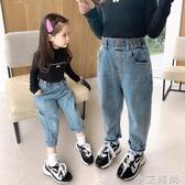 女童牛仔褲秋裝2020新款韓版兒童洋氣寬松褲子春秋款休閒老爹褲潮 小艾新品